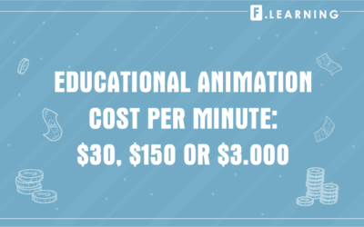 How much does an educational animation cost per minute: $30, $150 or $3,000?