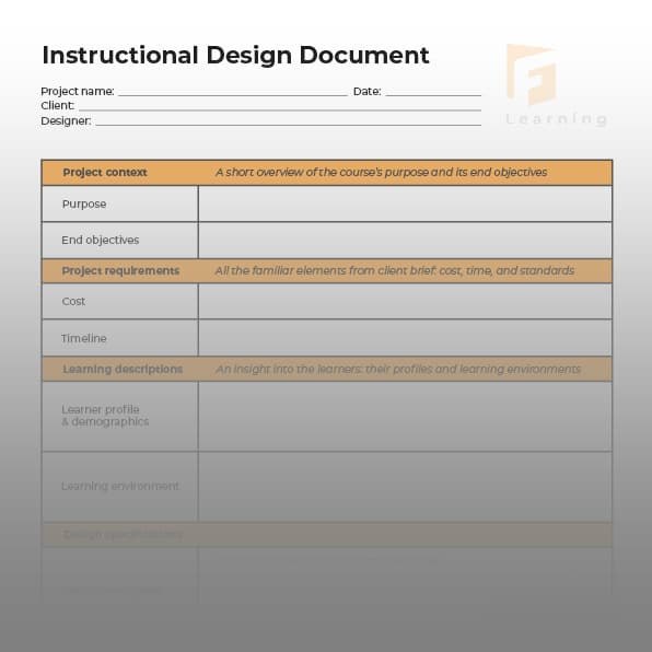 instructional design document template 1