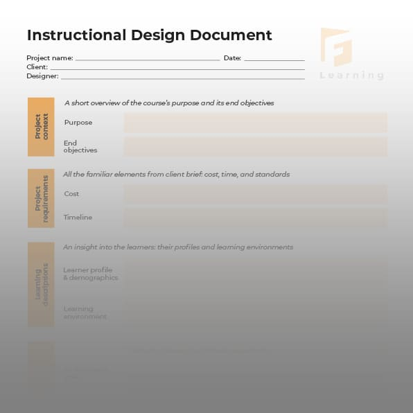 instructional design document template 4